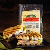 BelGioioso Fontina Cheese 12/1# Ziplock Shingle Packs