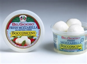 BelGioioso Fresh Mozzarella Cheese 6/7oz Cups 1.75oz Bocconcini (2.625#)