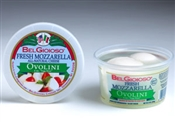 BelGioioso Fresh Mozzarella Cheese 6/8oz Cups 4oz Ovolini (3#)