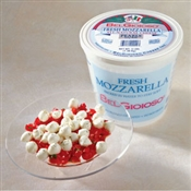 BelGioioso Fresh Mozzarella Cheese 2/3# Pearls 2.5g Tub (6#)