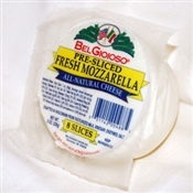 BelGioioso Fresh Mozzarella Cheese 12/8oz Pre-Sliced Balls thermoform (6#)